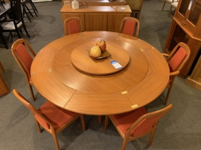 round-hardwood-dining-set