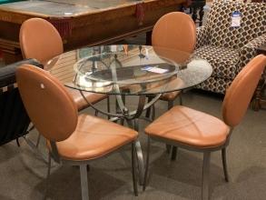 round-glass-dining-set