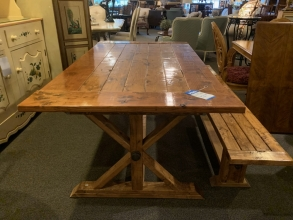 rustic-wood-farm-table-bench
